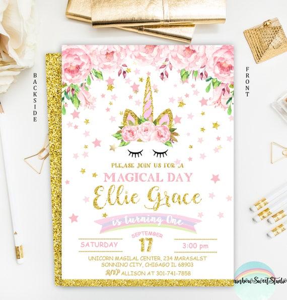 Unicorn birthday invitation rainbow invitation printable etsy image 0 filmwisefo