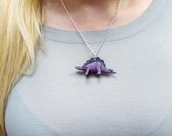 Stegosaurus Necklace, Dinosaur Necklace, Animal Necklace  Great Stocking Stuffer