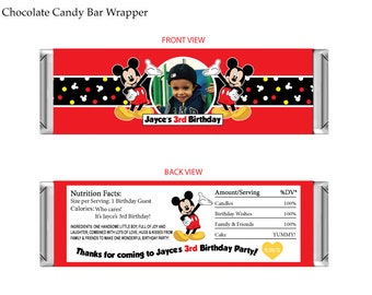 Mickey Mouse Chocolate Candy Bar Wrapper