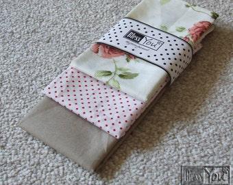 Rose patterned Cotton Handkerchief, Women Handkerchief, Mens Pocket Square