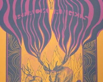 The Black Angels - Boston, Massachusetts - 18x24 Silkscreen Gigposter