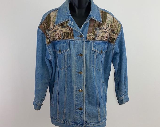 Featured listing image: Vintage 1990's // Victorian Jean Jacket // M // Karen Kane // Denim // Oversized