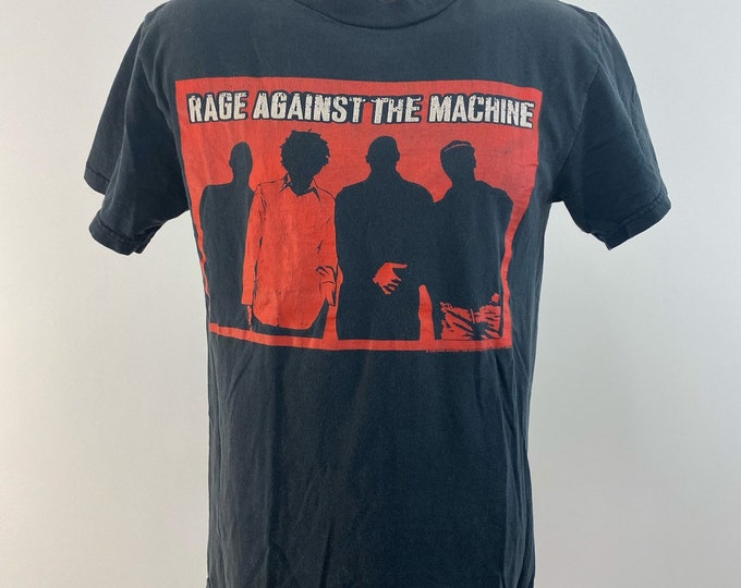 Featured listing image: Vintage 1990s // Rage Against the Machine // Size Small // Delta // RATM // Band // Music // Black // Rage //