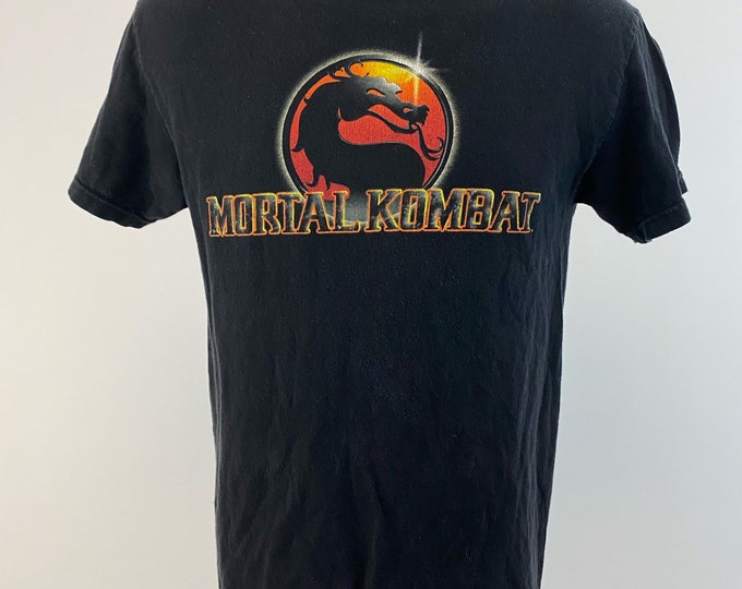 Featured listing image: Vintage 1990s // Mortal Kombat // Size Small // Tennessee River // Black // Logo // Video Games // Promo // Arcade //