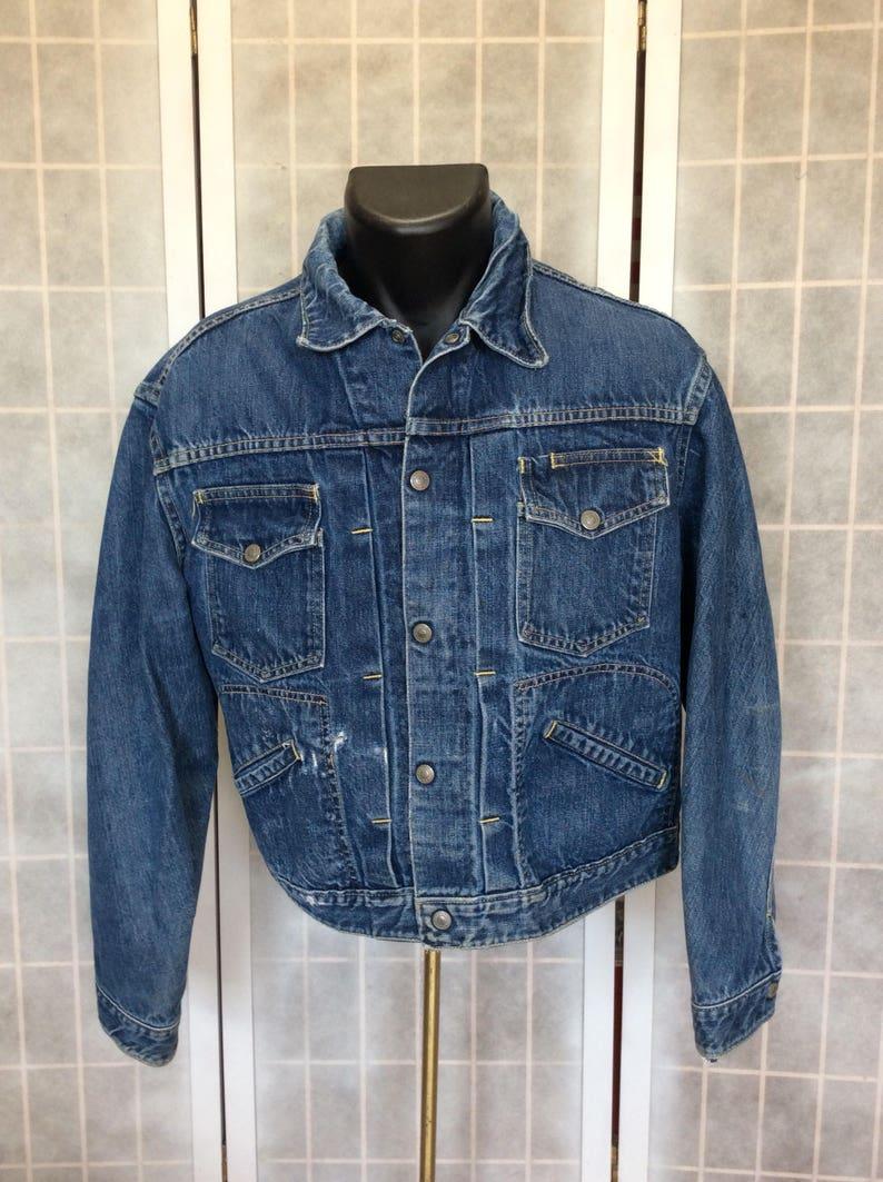 105bc0045ad Vintage 1970s-80s Classic Denim Jacket J.C.P. Co Ranch Craft