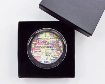 Map Paper Weight - Choose your Location
