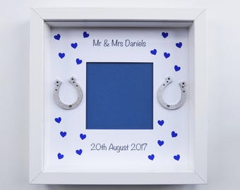 Personalised Mr & Mrs Wedding Day Photo Frame