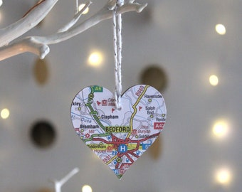 Personalised Small Heart Map Keepsake - Choose your Location