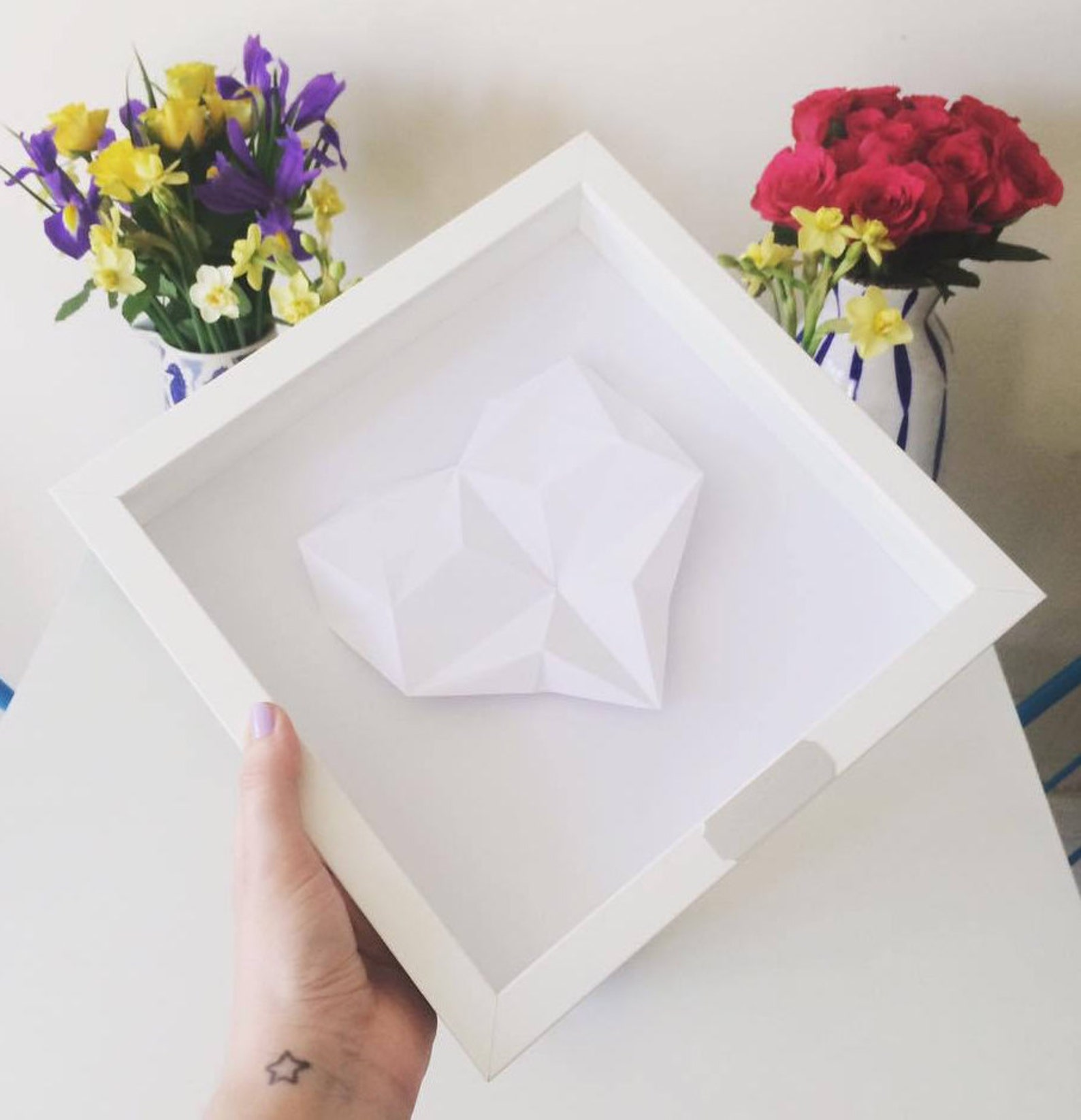 Personalised Origami Heart