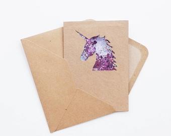 Unicorn Confetti Card