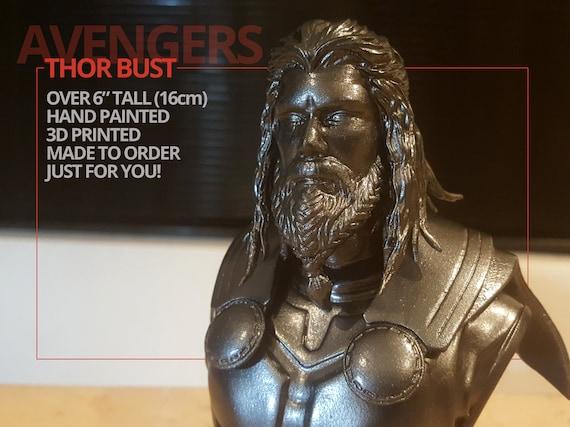 Thor Bust Avengers Endgame Available As Long Beard Thor Bust Or Short Hair Thor Bust Infinity War 3d Print Handpainted