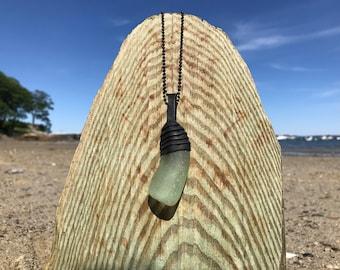 Light Green Sea Glass Pendant