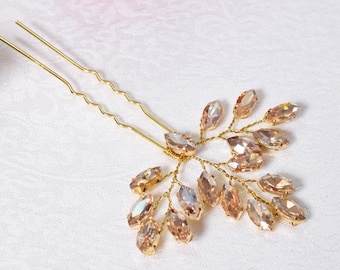 Bridal Hair Pin, Wedding Hair Pin, Rhinestone Hair Pin, Bridal Hair Piece, Wedding Headpiece, Crystal Hair Pin, Bridal Crystal Headpiece