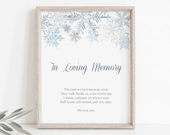 DIY Printable Winter Wedding or Christmas Party Signs Custom Sign Template Snowflakes Templett Dusty Pink /& Silver Instant Download.