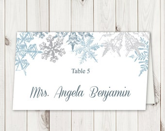 Christmas Placecards Etsy - Christmas place cards template
