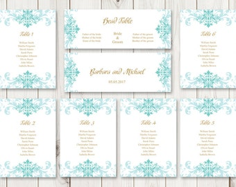 watercolor wedding seating chart template lovely etsy