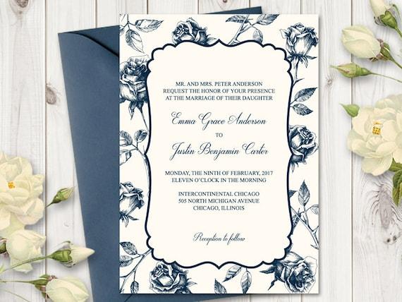 Vintage wedding invitation wedding invitation template stopboris Gallery