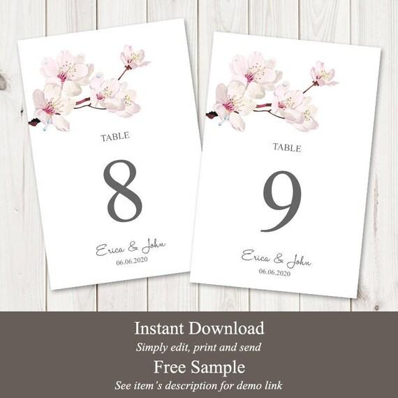 Diy Printable Table Numbers