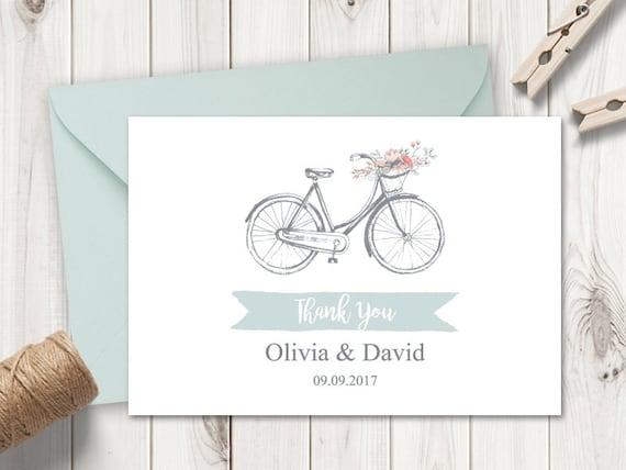 Druckbare Hochzeit danke Kartenvorlage Blume   Etsy
