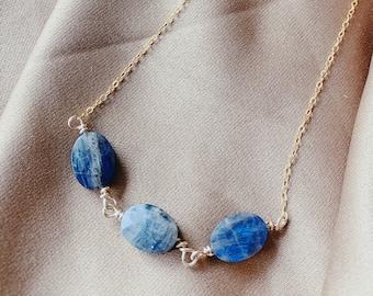 3 Stone Labradorite Necklace