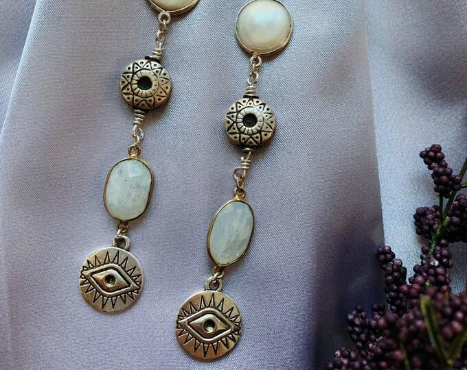 Featured listing image: Evil Eye Dangle Earrings
