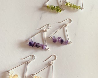 Spring Triangle Earrings