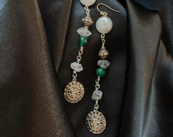 Snake Herkimer Earrings