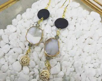 Ocean Jasper Sun Earrings