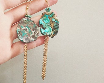 Western Turquoise Drop Earrings