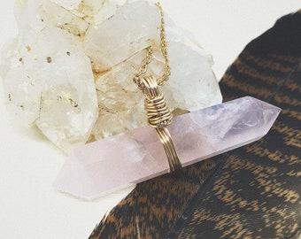 Rose Quartz Pendent Necklace