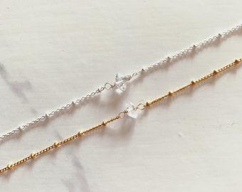 Herkimer Satellite Chain Bracelet