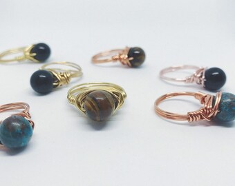 Round Polished Wire Wrapped Rings