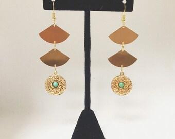 Evil Eye Gold Earrings