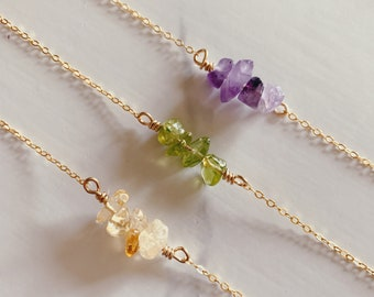 Spring Raw Stone Necklace