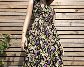 Pretty flower dress etsy pretty original 1950s spring flower print dress mightylinksfo