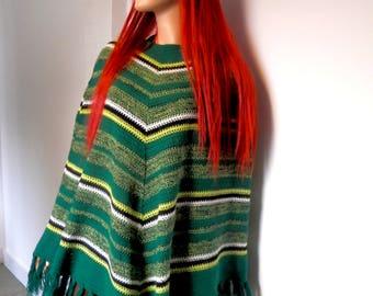 Cute Original 1970's Pullover Poncho