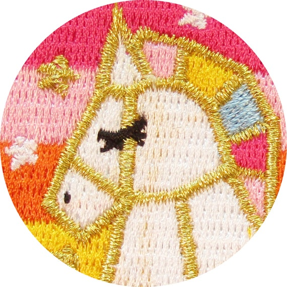 Rainbow Unicorn Iron On Patch Motif Patches Badge 7 cm x 8 cm Easy Fix P533