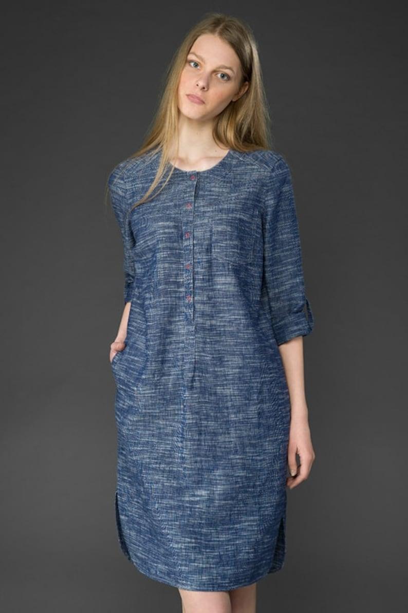 931f3a7cb53e Linen women dress Pure linen dress Linen clothing Linen | Etsy