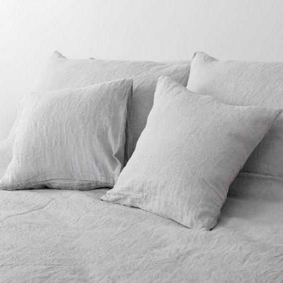 Washed linen pillowcase Light greige