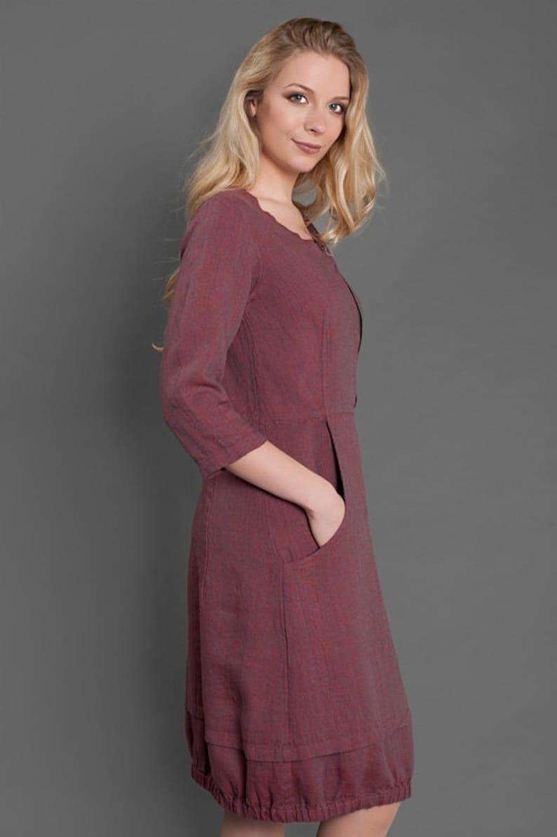 310ea220adb4 Linen women dress Pure linen dress Red dress Eco Linen | Etsy