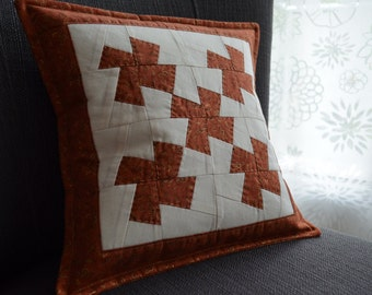 Cinammon Quilted Patchwork Pillowcase