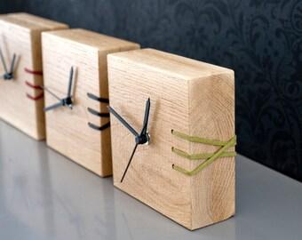 Wooden Clock, Desk Clock, Modern Clock, Wooden Clock Designs, Wooden Desk Clock, Embroidered Clock, Unique Clock, Gift for Men, Office Decor