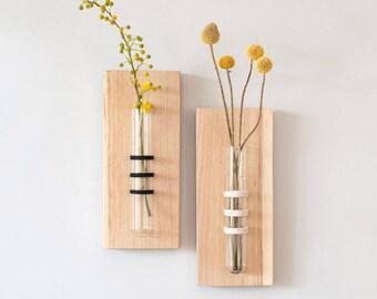 Hanging Vase, Tube Vase, Wall Hanging, White Hanging Vase, Test Tube, Unique Home Accessory, Mother's Day Gift, Wedding Gift, Unique Vase