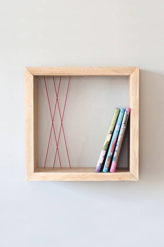 Platz Schweben Regal Holz Regal Wandregal Schwimmende Cube Etsy