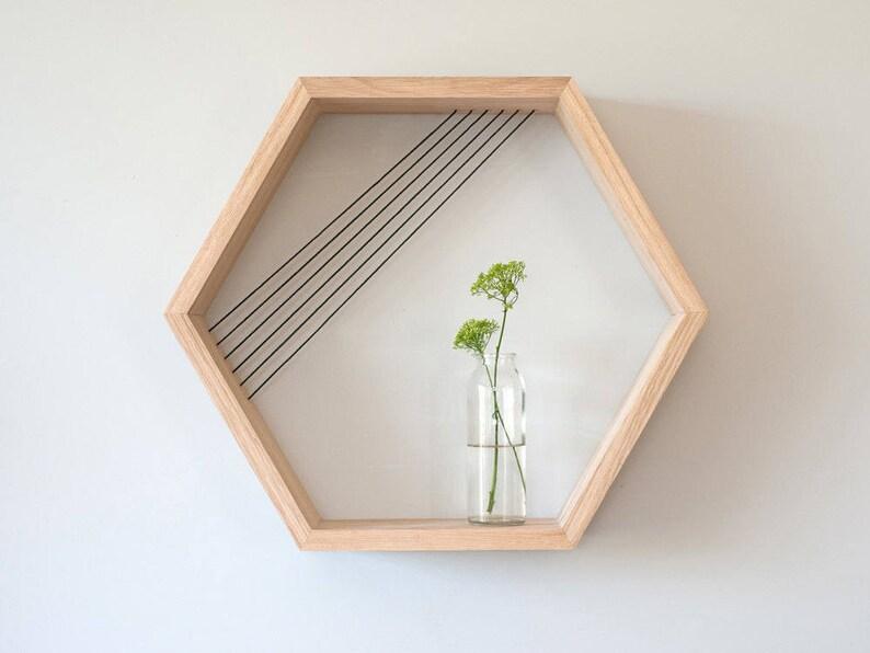 Zeshoek zwevende planken zwevende houten planken honingraat etsy
