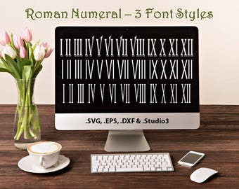 Roman Numeral 3 Font Styles In Svg Eps Dxf Studio3 Formats Craft Cut Die Cutters Digital Vector Files Instant Download Download 158256 Free Fonts Free Typography Script