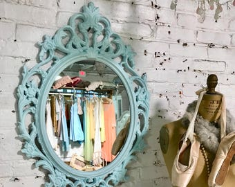 Painted Cottage Prairie Shabby Chic Fancy Rococo French Mirror