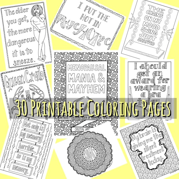 Printable Coloring Book For Adults Coloring Book Funny Etsy