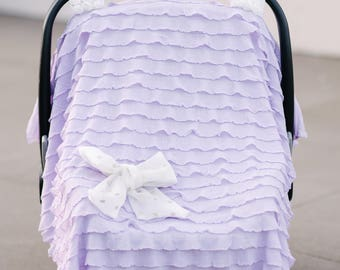 Baby Girl Car Seat Covers - Lavender Lilac - Car Seat Cover - Core Collection