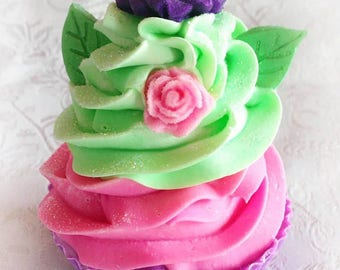 Mardi Gras Cupcake Soap